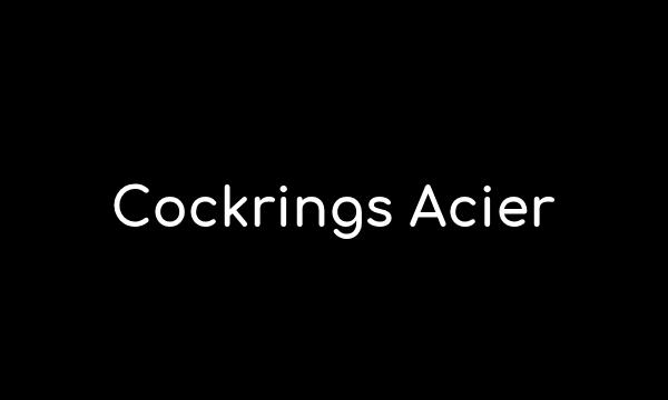 Nos cockrings en acier